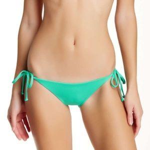 NWT⭐️Becca Green Solid Side Tie Swim Bottom